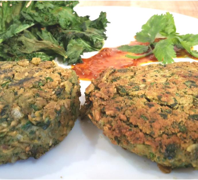 Hamburguesas de Garbanzo y Kale