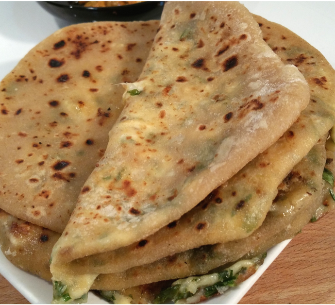 Paratha de queso | Pan Indio