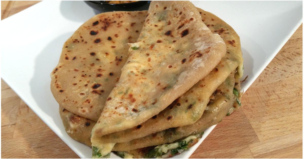 Paratha de queso | Pan Indio