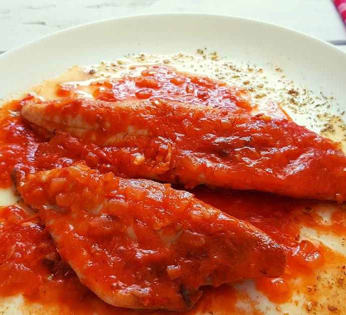 Receta de Palometa con Tomate