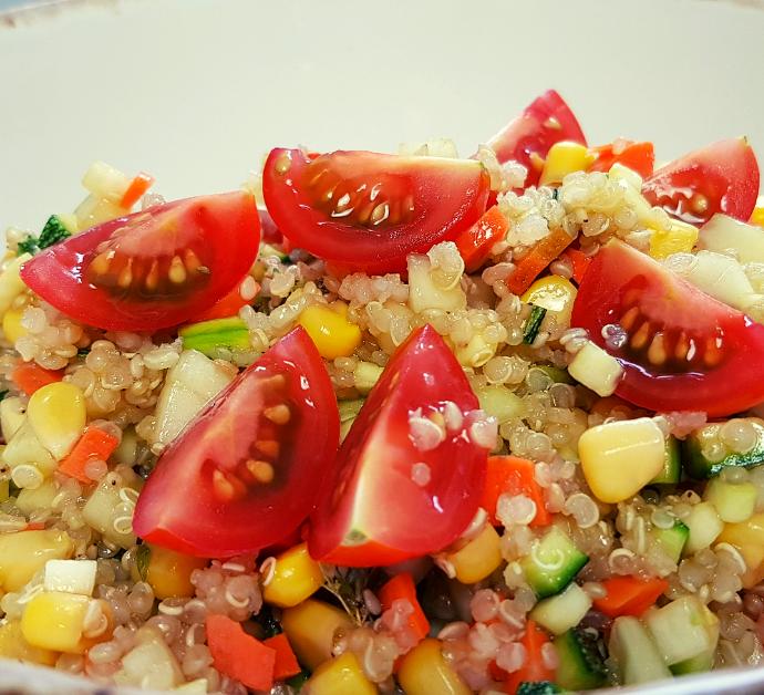 Ensalada de calabacín y quinoa