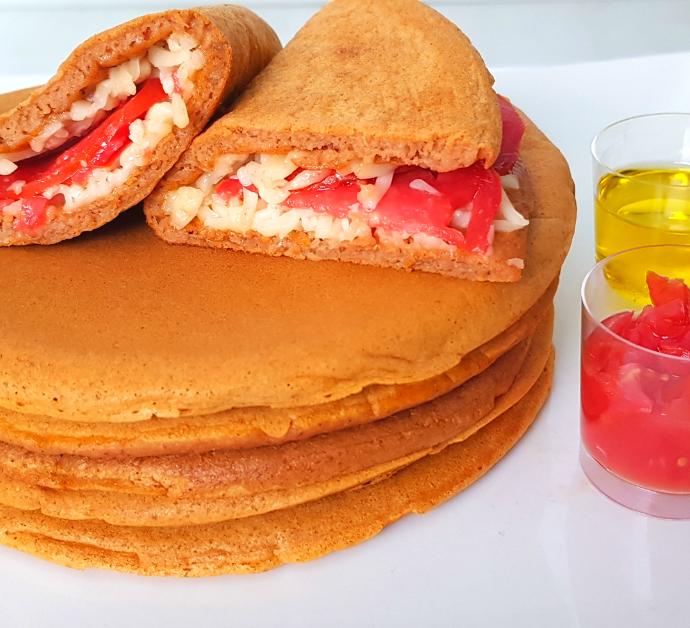 Tortitas de tomate estilo mediterráneo