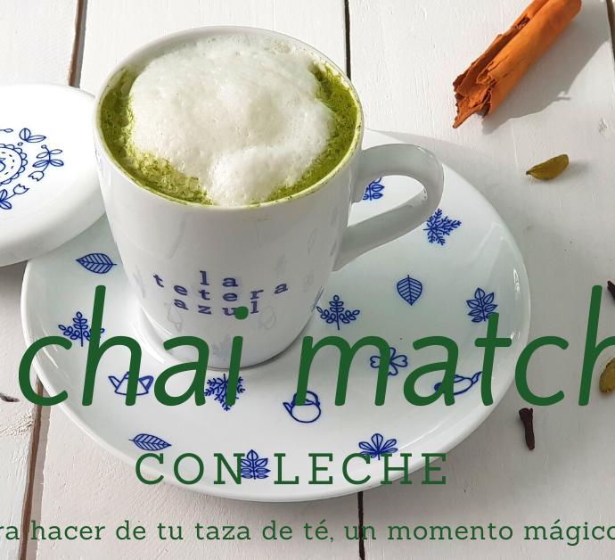 Como hacer té chai Matcha con leche