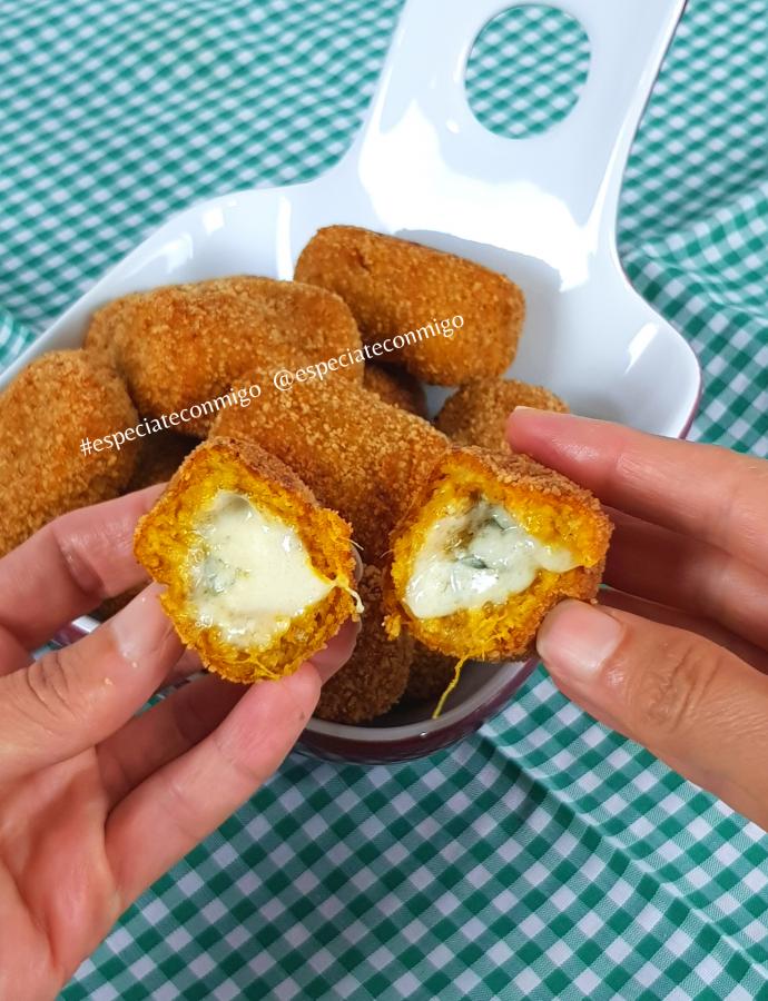 Croquetas de calabaza rellenas de queso
