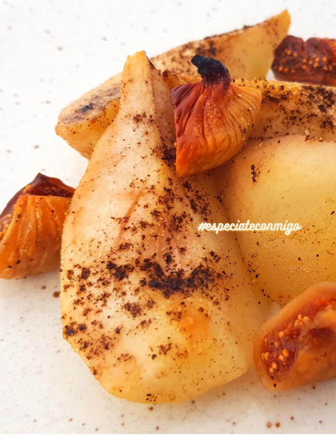 Peras al horno con vainilla