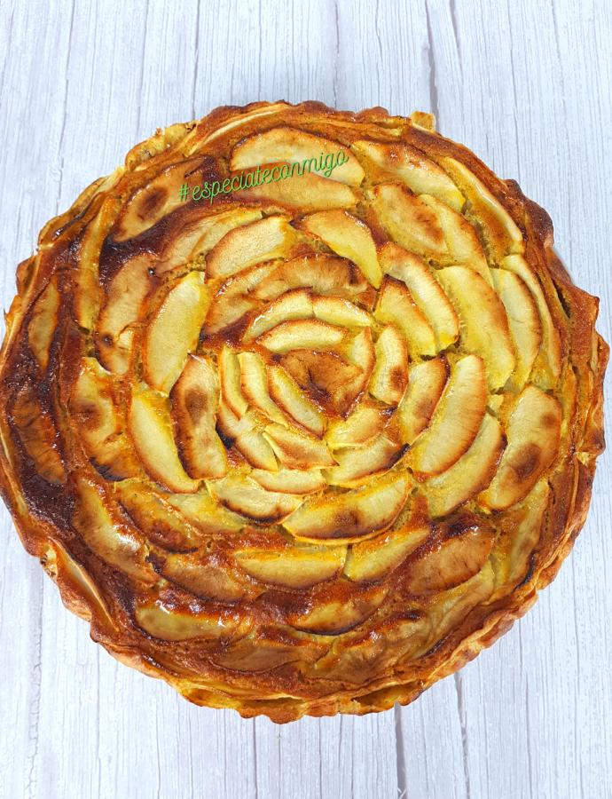 Tarta de manzana sin azúcar, un dulce sorprendente y sano