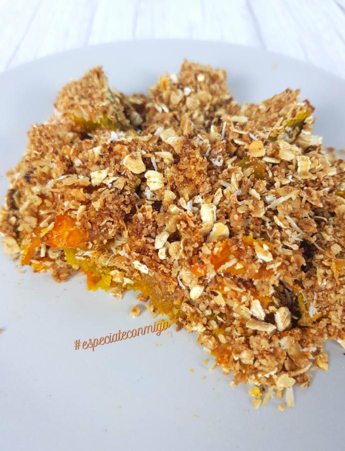 Crumble de calabaza sin harina | Espectacular y Sano